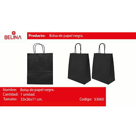 Bolsa de papel mediana negra