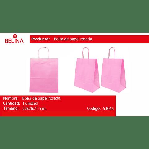 Bolsa de papel mediana rosada