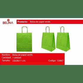 Bolsa de papel mediana verde