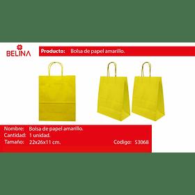 Bolsa de papel mediana amarilla
