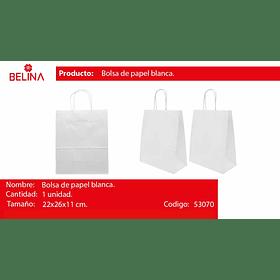 Bolsa de papel mediana blanca
