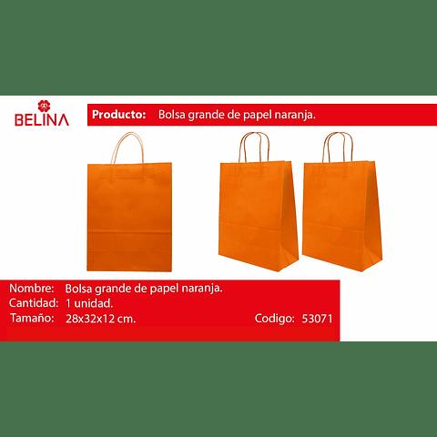 Bolsa de papel grande naranja