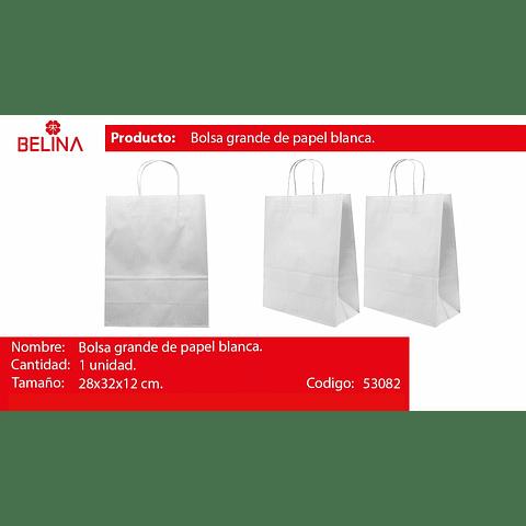 Bolsa de papel grande blanca