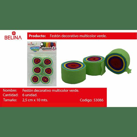 Feston Fino Verde/Colores 6pcs