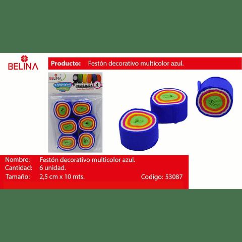 Feston Fino Azul/Colores 6pcs