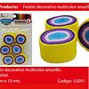 Feston fino amarillo/colores 6pcs