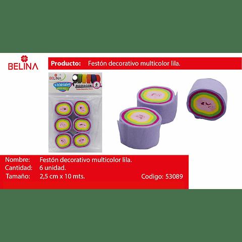 Feston fino lila/colores 6pcs