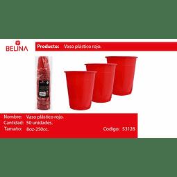 Vaso plastico 250cc rojo