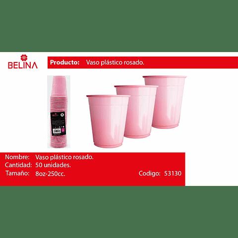 Vaso plastico 250cc rosado