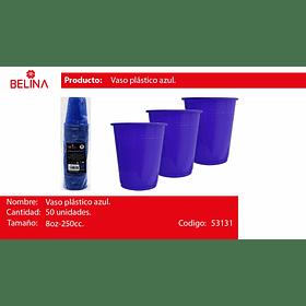Vaso plastico 250cc azul