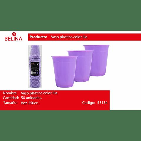Vaso plastico 250cc lila