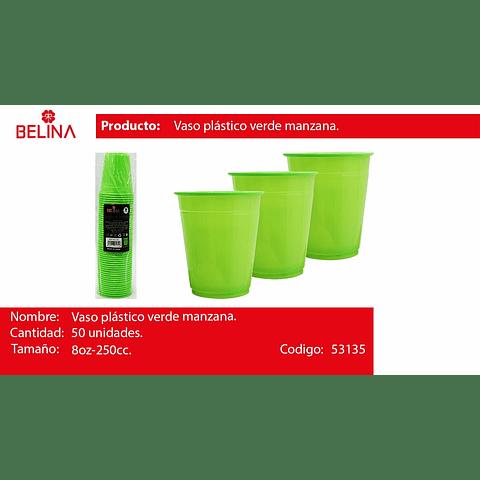 Vaso plastico 250cc verde