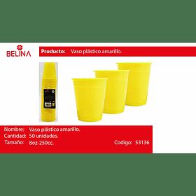 Vaso plastico 250cc amarillo