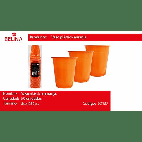 Vaso plastico 250cc naranja