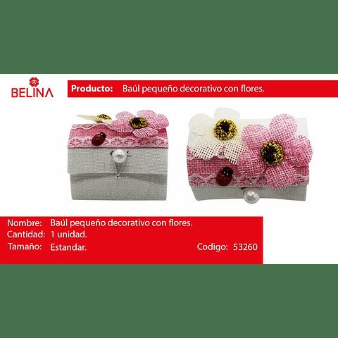 Cofre con flores de recuerdo rosa