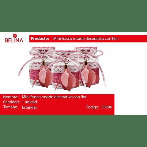 Mini frasco con cinta rosa