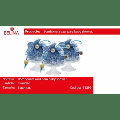 Bombonera De Acrilico Con Flor Azul