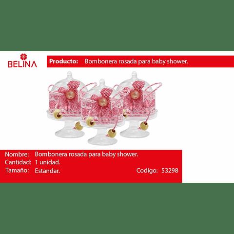 Bombonera de acrilico con flor rosa