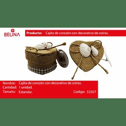 CAJA DE CORAZON CON CONCHA DE MAR