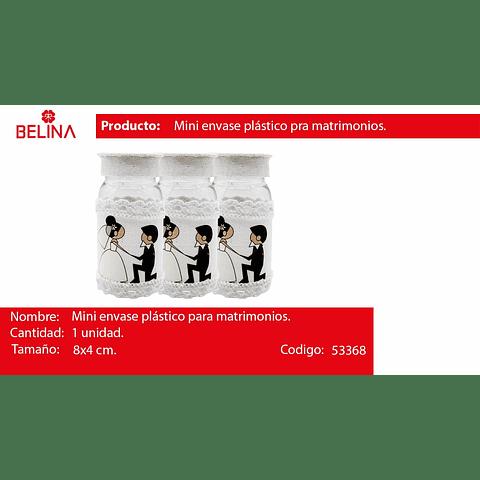 Mini frasco plastico para boda