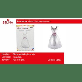 Globo metalizado traje de novia