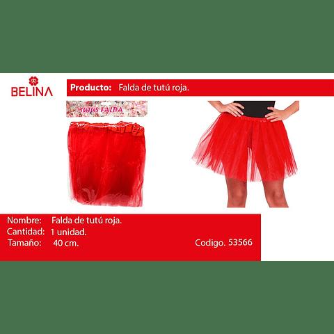 Tutu 40cm Rojo