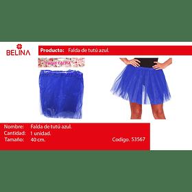 Tutu 40cm azul