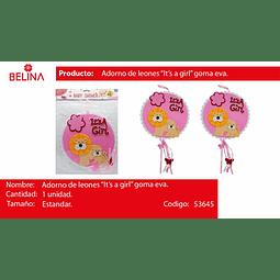 Guirnalda baby shower rosa