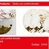 Globo Burbuja Confeti Redondo Oro