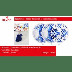 Globo burbuja confeti estrella azul