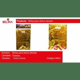 Bolsas metalicas 8pcs oro