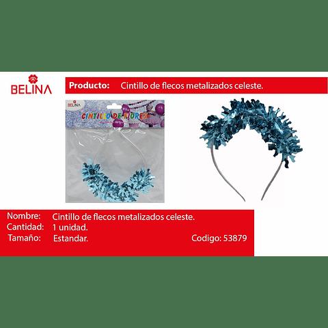 Cintillo de flecos metalizados
