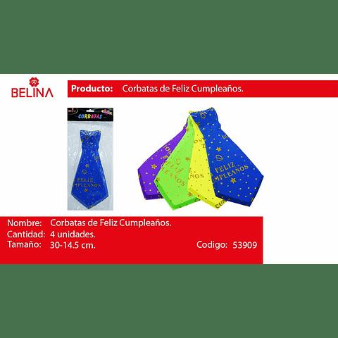 Corbatas Fluor 4pcs30x14.5cm