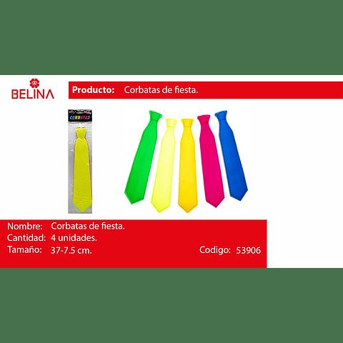 Corbatas fluor 64pcs33*7.5cm