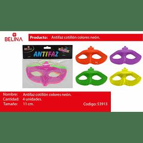 Antifaz fluor 4pcs17x11cm