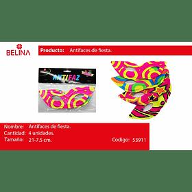 Antifaz fluor 4pcs21*7.5cm