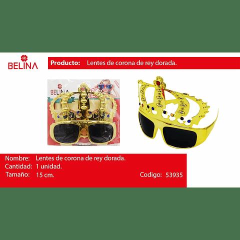 Lentes corona de rey oro