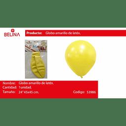 """Globo amarillo pastel 24"""" 45cm*45cm 1pcs"""