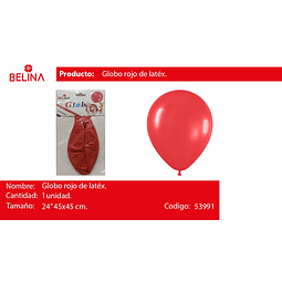 """Globo piñata rojo pastel 24"""" 45cm*45cm 1pcs"""