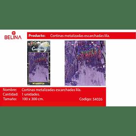 Cortinas metalicas lila tornasol 3m