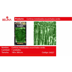 Cortinas metalicas verde tornasol 3mr