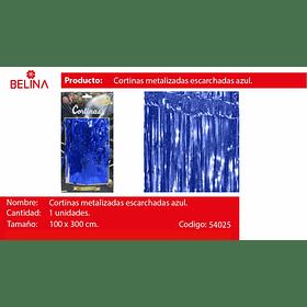 Cortinas metalicas azul tornasol 3m