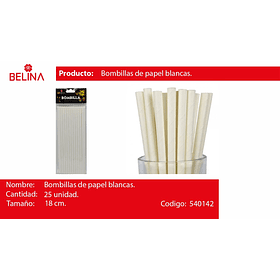 Bombillas blancas 25pcs 6*197mm