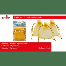 Bolsas de organza oro 10pcs 8*10cm
