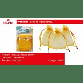 Bolsas De Organza Oro 10pcs 8x10cm