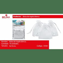 Bolsas de organza blanca 10pcs 8*10cm