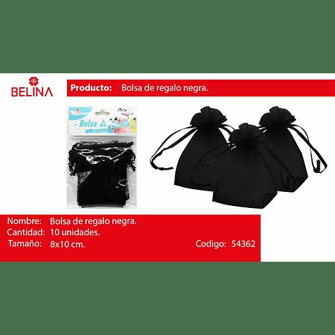 Bolsas de organza negra 10pcs 8x10cm