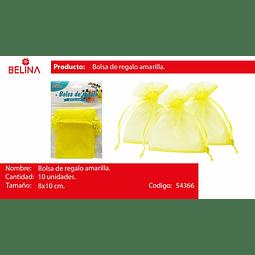 Bolsas de organza amarilla 10pcs 8*10cm
