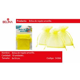 Bolsas de organza amarilla 10pcs 8x10cm