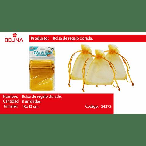 Bolsas de organza oro 8pcs 10x13cm